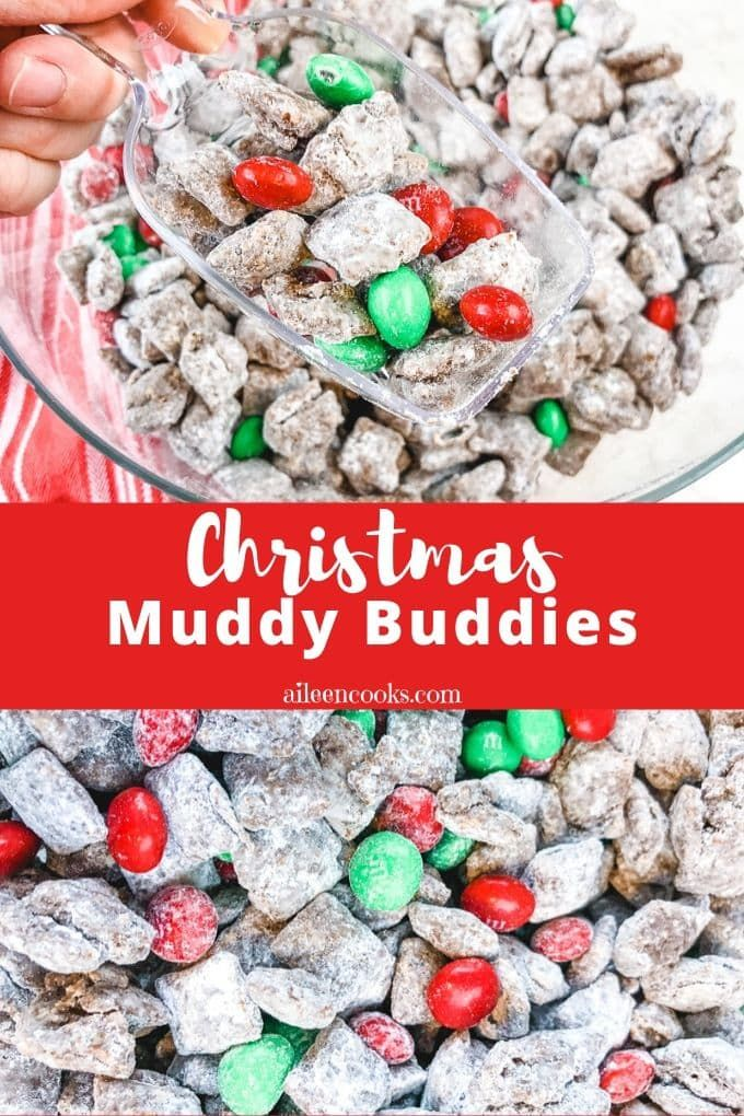 Christmas Puppy Chow Also Known As Muddy Buddies Reindeer Chow Or Muddy Munch Is A Peanut Butter Chocolat Puppy Chow Puppy Chow Christmas Puppy Chow Recipes