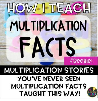You have never seen multiplication facts taught like this before! I have created a multiplication story to go with each fact students have to memorize in the multiplication times table for facts 0-12. Over the past few years, I have realized that memorization of multiplication facts doesn't come easily to all my students.