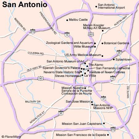 Map of San Antonio Attractions | Some attractions within Map of San Antonio Attractions Map: