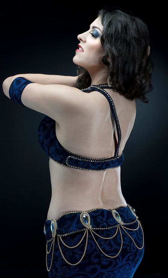 blue velvet belly dance costume makari dreams tato