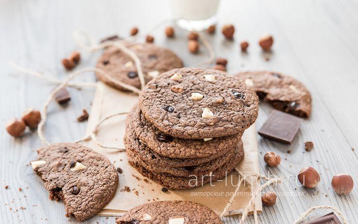 Печенье Три шоколада - пошаговый рецепт с фото