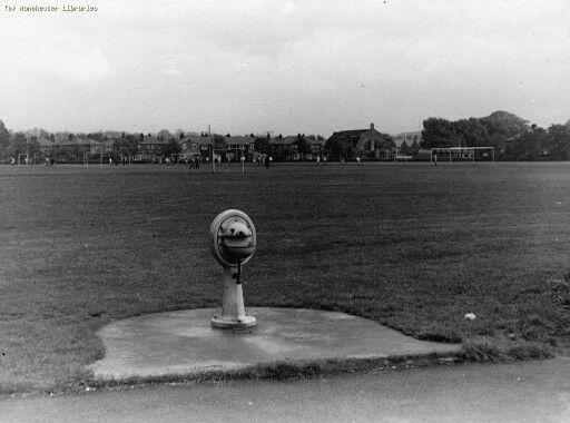 Fog Lane Park, across football fields, Didsbury, Manchester