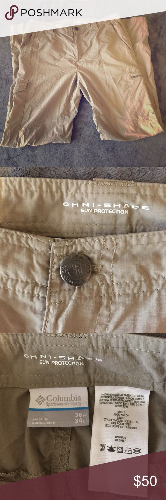 Men's Columbia outdoor pants. Size 36x34 🏕 Amazing Columbia outdoor pants. Great for hiking or camping. Has Omni-shade sun protection. Cargo style pants that are in fantastic condition 🐟🌲🐾 Columbia Pants Cargo