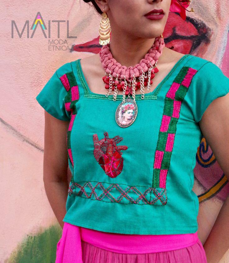 #handmade #handembroidery  #boho blouse #filigree #earrings #Frida Kahlo style. Online store instagram @maitl_moda_etnica facebook Maitl Moda Etnica
