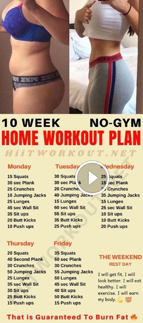 10 Week Home Workout Plan That is Guaranteed To Bu…