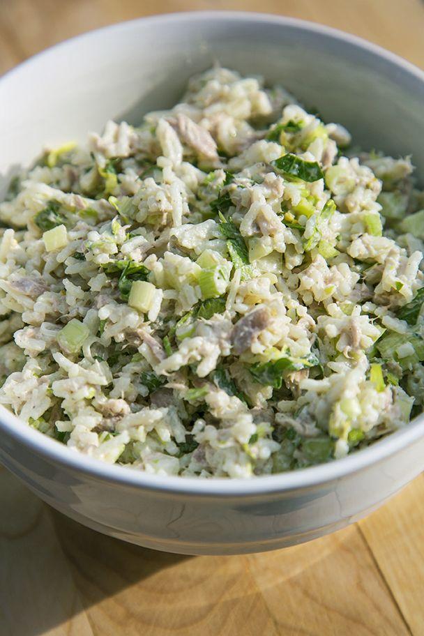Salade de riz au thon - Recettes du Québec
