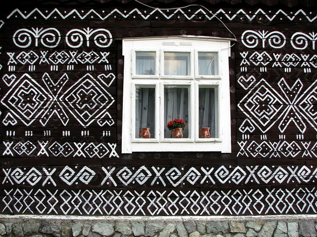 I love this painted house in Čičmany, Zilinsky, SK.  Photo by eva on Flickr