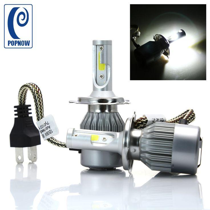 POPNOW 2x C6 H4 LED Bulbs 12V Headlamp Bulbs High Low Beam 72W 6000K 7600LM For Nissan Pathfinder 2000-2004 #7048 #Affiliate