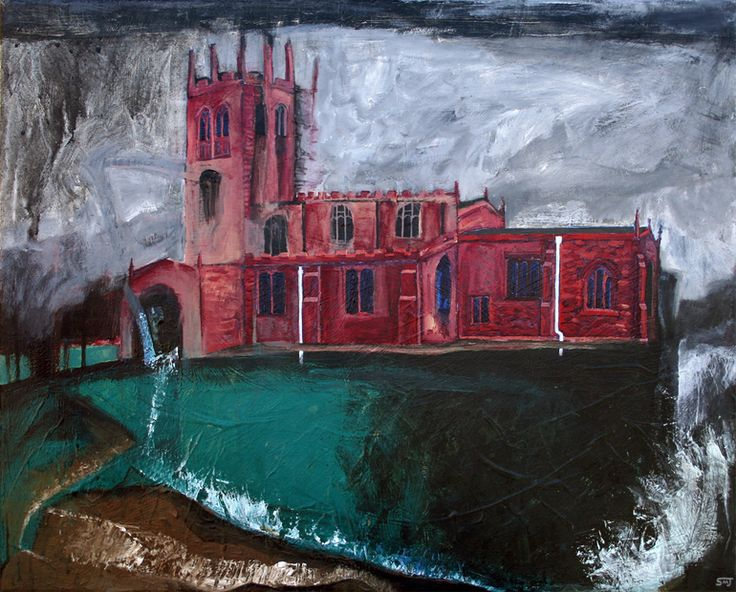 """Saatchi Online Artist: Shaun Michael Jones; Acrylic 2013 Painting """"Guilt Engines"""""""