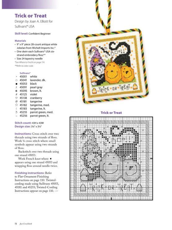 Best cross stitch patterns fall halloween