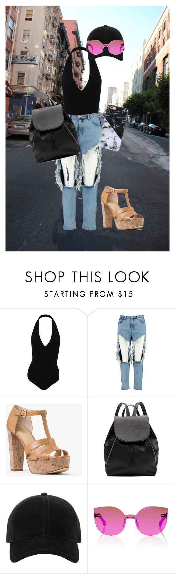"""""""Spandex Bodysuit"""" by pandalover435 ❤ liked on Polyvore featuring American Apparel, Boohoo, MICHAEL Michael Kors, Witchery, rag & bone and RetroSuperFuture"""