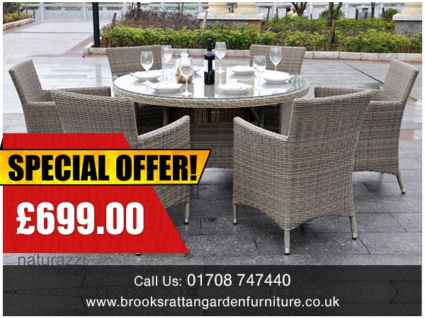 Deal Of The Day 6 Seat Round Dining Set Free Delivery Furniture Sale
