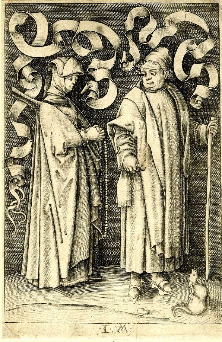 Israhel van Meckenem The Churchgoers 1500