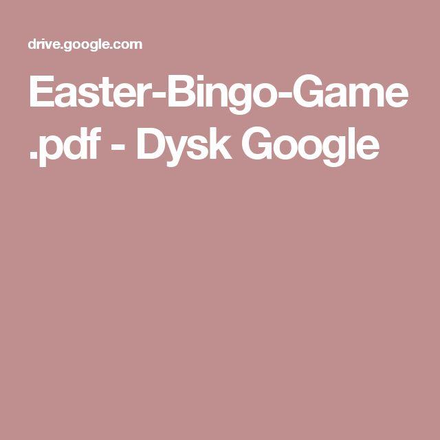 Easter-Bingo-Game.pdf - Dysk Google