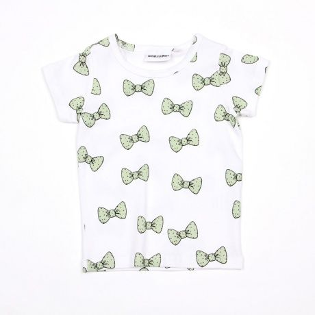 Mini Rodini Green Bow Tee. Available to buy at http://www.fromlolawithlove.com.au