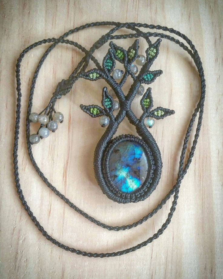 Tree of Life Necklace with Labradorite pendant and Labradorite beads  Approx 6.5hrs to create. Made in Coolum Beach, on the beautiful Sunshine Coast in Australia.  See www.instagram.com/ilovelife.n.lifelovesme or www.etsy.com/au/shop/LifeLovesMe