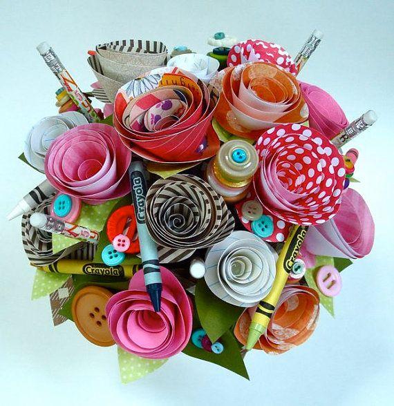 paper flower and art bouquet/children's deco?