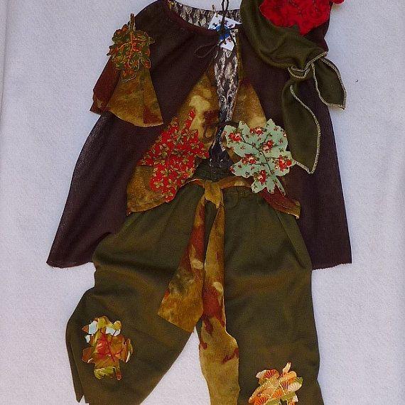 Boys Woodland Elf Gypsy or Bohemian Costume Cape by TwinsFromOz, $85.00