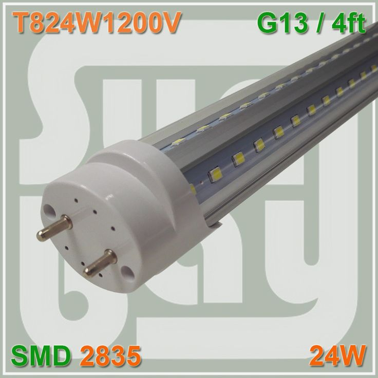 ==> [Free Shipping] Buy Best Free Shipping V-shaped T8 LED Tube bulb light 4ft 24W 1.2M G13 work with existing fixture 85-277V 270 angle double sides SMD2835 Online with LOWEST Price | 32762483000