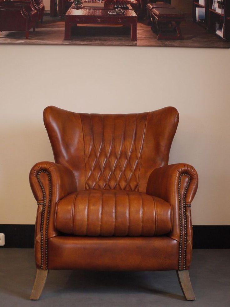 vintage clubsessel ohrensessel bugatti armchair echt leder rindsleder in m bel wohnen