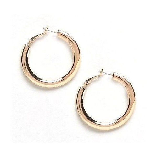 Small Gold Hoop Earrings (1.100 RUB) ❤ liked on Polyvore featuring jewelry, earrings, 18k gold jewelry, hoop earrings, 18k gold earrings, 18 karat gold jewelry and gold jewellery