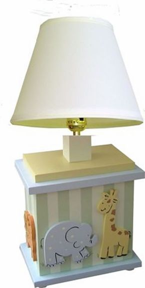 Such a cute lamp for the kids room!