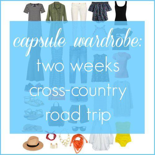 capsule wardrobe two weeks cross country road trip by wardrobe oxygen