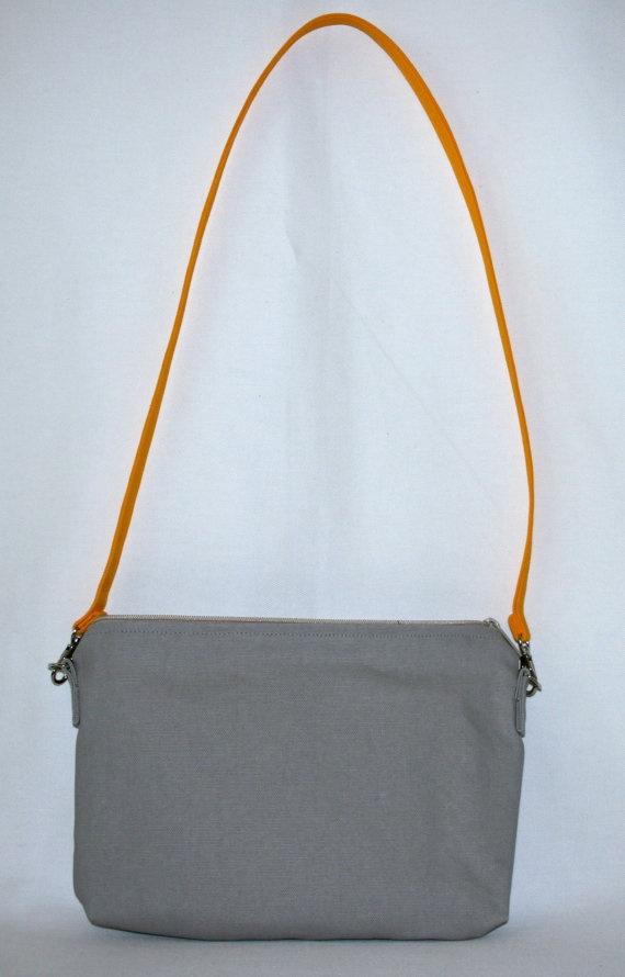Gray Canvas Crossbody handbag by truliegifted on Etsy, $50.00