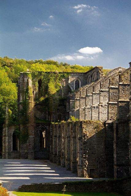 Villers-la-Ville, known for being one of the most beautiful castle ruins in the world, Belgium