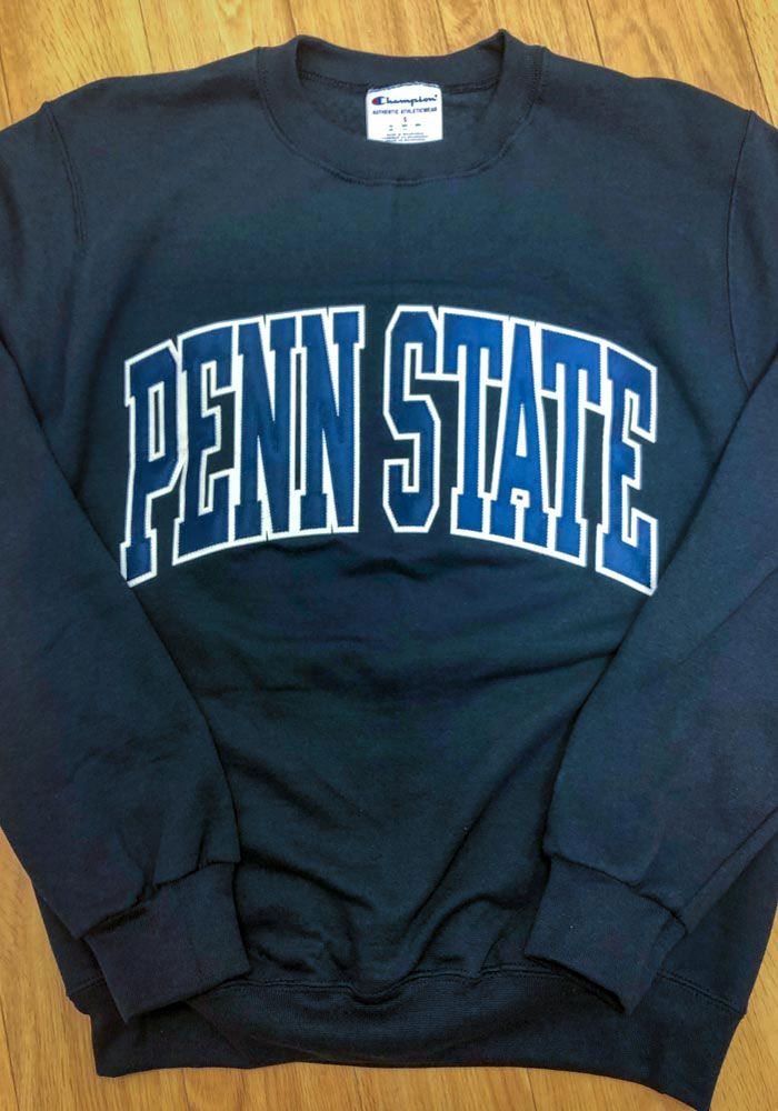 6b73f13d5 Champion Penn State Nittany Lions Mens Navy Blue Arch Long Sleeve Crew  Sweatshirt