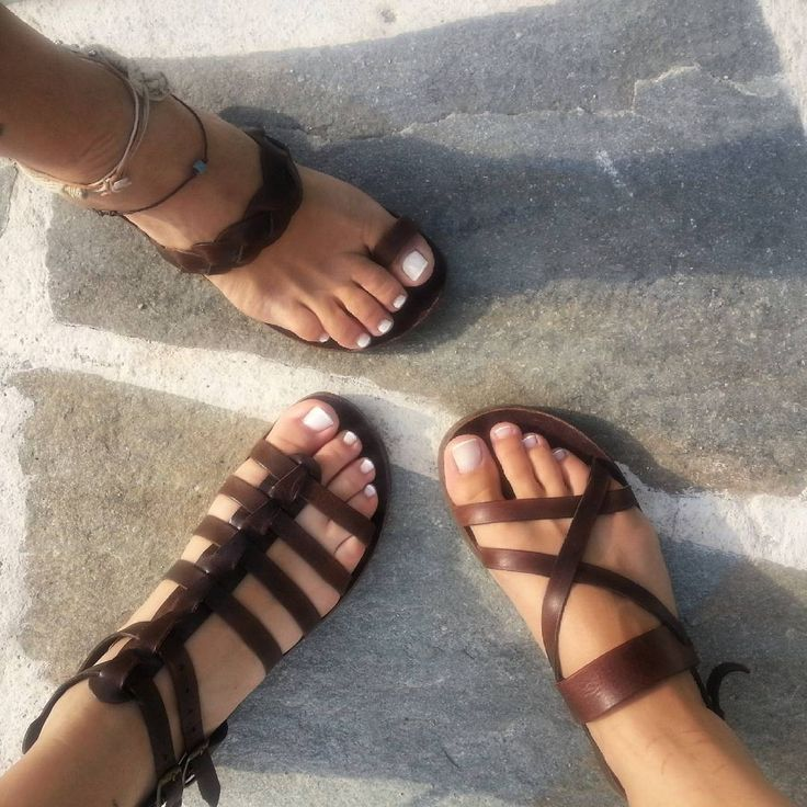 One,two,three. Play with me   #sandals #ippomare #handcrafted #handmade #Hellas #Greece #model #andromeda #kleio #euterpe #genuine #genuineleather #naturalleather #brown #chocolatebrown #summermood #summerfashion #summer2015 #vacation #holiday #shoes #shoeslovers #nofilter #saturday #saturdaynight #girls #nightout #lovegreece