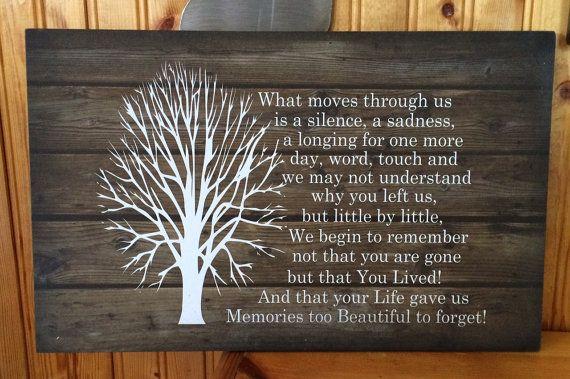 Sympathy Gift - Beautiful Memories - Wood Sign or Canvas Wall Art - Mom Memorial, Dad Memorial, Loved One