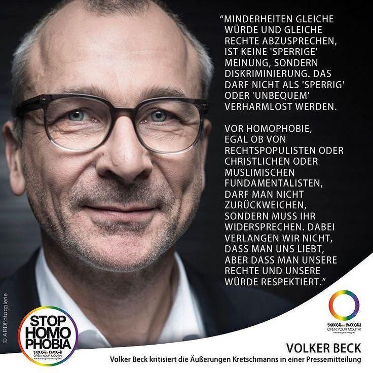 """#QuoteOfTheDay  """"Der grüne Bundestagsabgeordnete @volkerbeck hat die Äußerungen seines Parteifreunds Winfried Kretschmann kritisiert [EiE berichtete-1]. """"Man sollte es mit dem Respekt vor der Respektlosigkeit nicht übertreiben"""" erklärte der schwule Politiker am Montagmittag in einer Pressemitteilung. """"Natürlich schützt der Artikel 5 GG auch die Narrenfreiheit. Deshalb muss man so manche Meinungen erdulden die man nicht gut findet. Das ist Teil unserer Demokratie"""" so Beck. """"Aber Minderheiten…"""