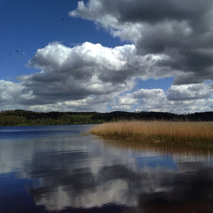 Lake Tenhultssjön in Sweden there I used to be when I was Young Took this pic in May 2015