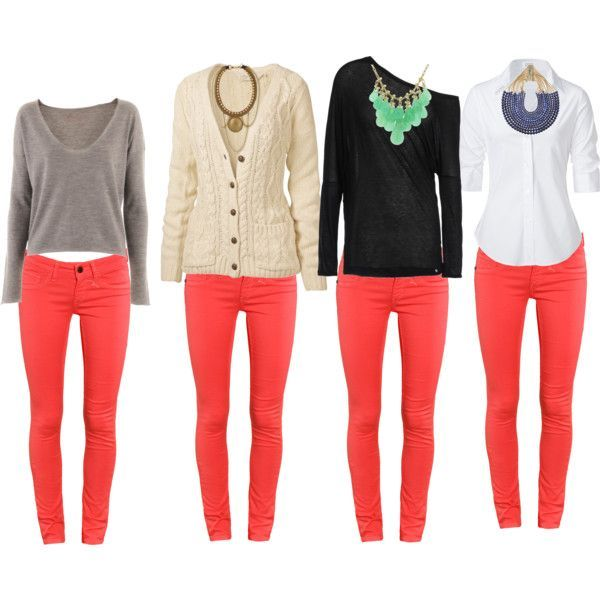Image result for outfits with coral pants | Blazers | Pinterest | Coral pants Clothes and Color ...