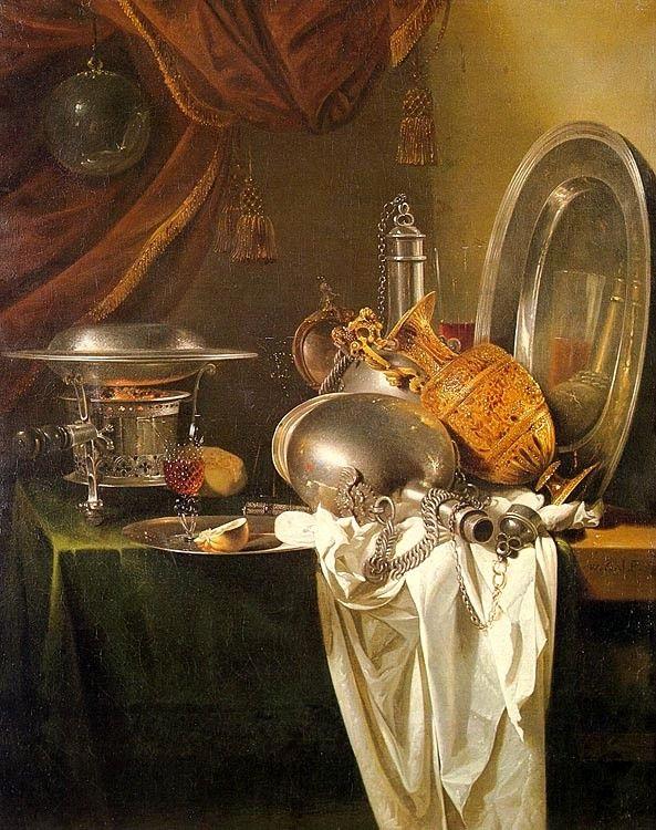 KALF, Willem Dutch Baroque Era (ca.1622-1693)_Still Life with Chafing Dish 1649