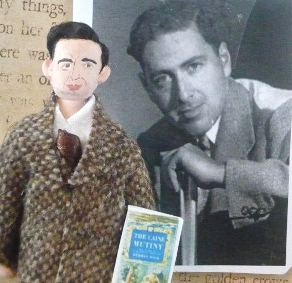 Herman Wouk Author Doll Miniature Art Collectible