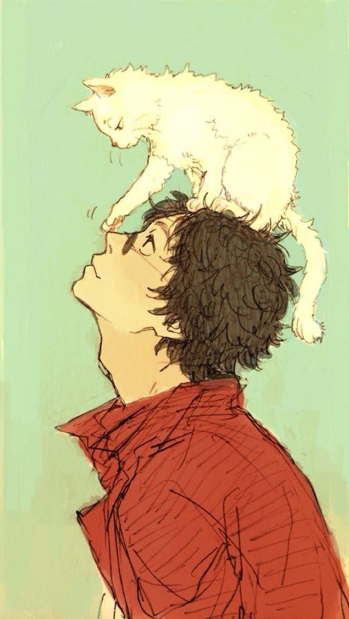 Gintama - Sakamoto and the cat