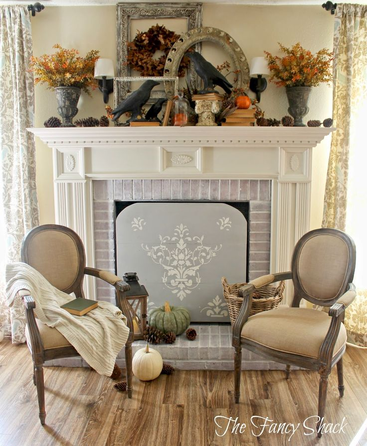 161 best fireplace mantel vignettes images on pinterest for French country fireplace