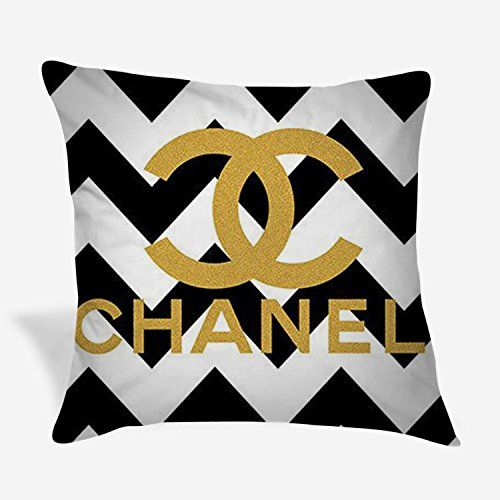 Gold Chanel Logo Black Chevron Throw Pillow Covers BeGundal http://www.amazon.com/dp/B01DDBGMZY/ref=cm_sw_r_pi_dp_ZbIbxb04YGX97