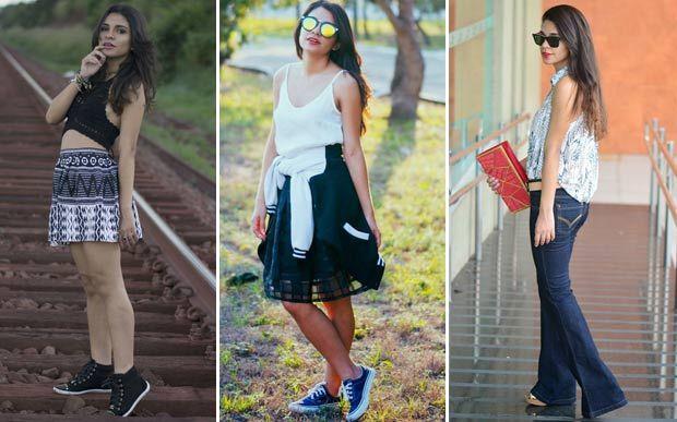 Estudante de jornalismo, a Even Grazielly gosta de misturar tendências e adora peças curtinhas - mas também se joga nas saias rodadas mais longas, na altura do joelho (para deixar o look romântico). Na hora de comprar roupas, a Even curte um site gringo.
