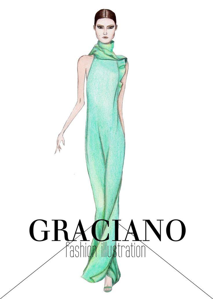 GRACIANO fashion illustration: Gucci S/S 2013 #MFW