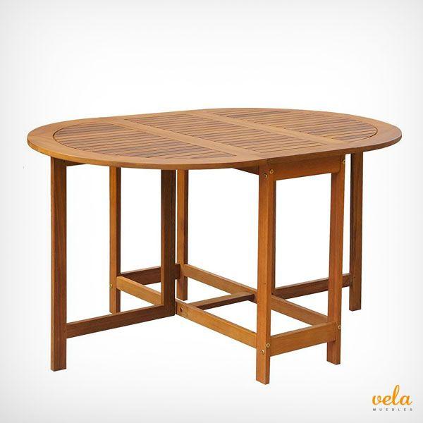 Mesa de jardín madera teka plegable. Echa un vistazo al precio y mira qué características