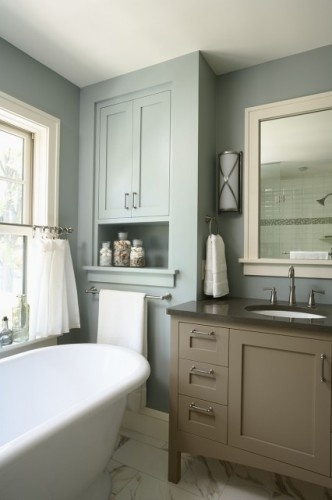 279 best taupe colour schemes images on pinterest color for Casual bathroom ideas