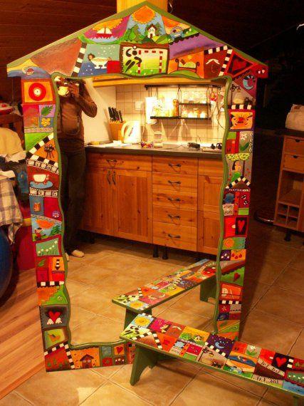 malovane zrkadlo