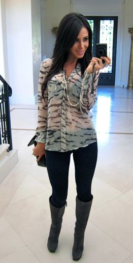 AWESOME OUTFIT.: Fashion, Shirts, Cute Outfits, Stano Blog, Winter Outfits, Animal Prints, Jennifer Stano Style, Everyday Outfits, Spring Outfits