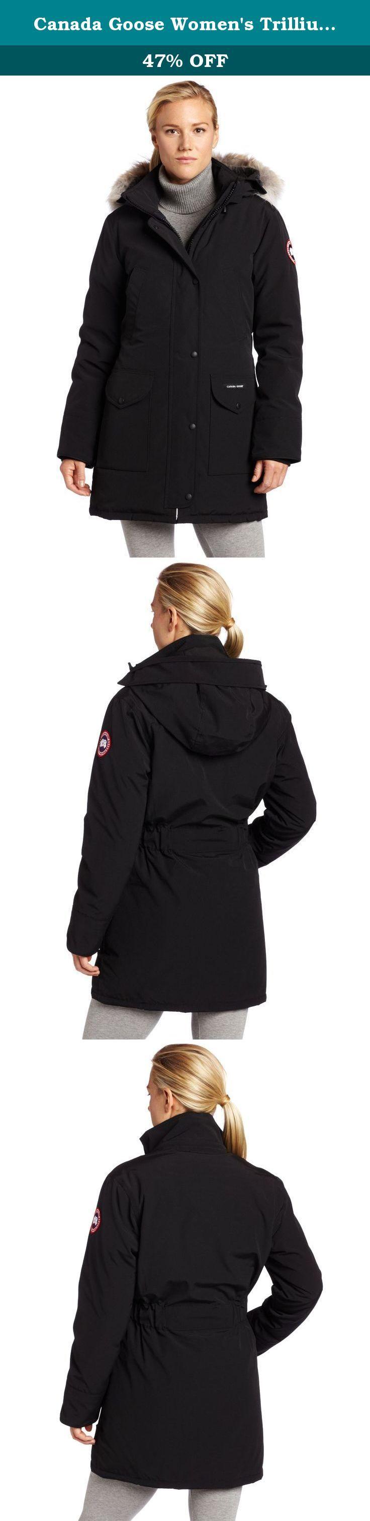 Canada Goose Women's Trillium Parka,Black,Medium. A stylish modern take on our classic Ladies Trillium Parka with a fashionable, high sheen Poly/Nylon sheen.