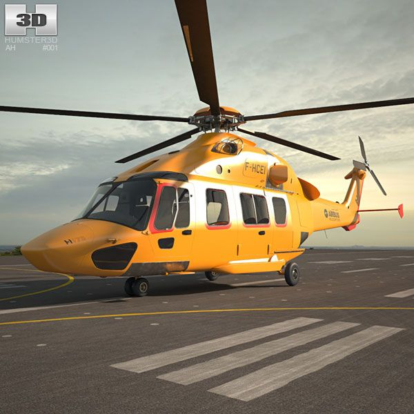 Airbus Helicopters H175 3d model from Hum3d.com.