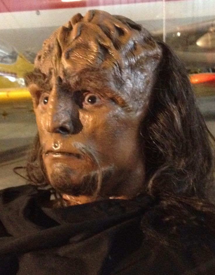 A Klingon prop from the Star Trek: The Starfleet Academy Experience at the Aviation Museum, summer 2016. Lieutenant Worf: Then look - and always remember.