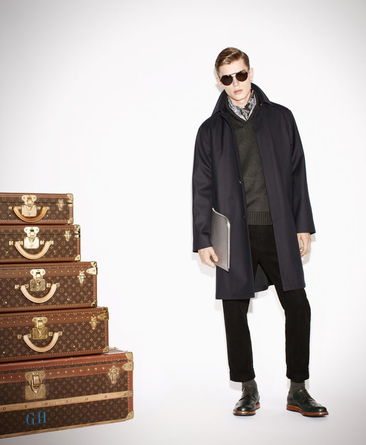 Janis Ancens for Louis Vuitton's pre-collection Fall/Winter 2013-2014 #attitudemodels
